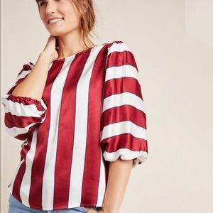 Maeve Red and White Maria Top